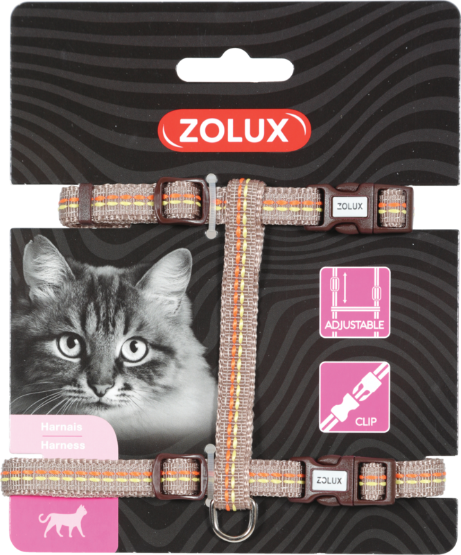 ZOLUX Szelki dla kota Tempo w kolorze brązowym