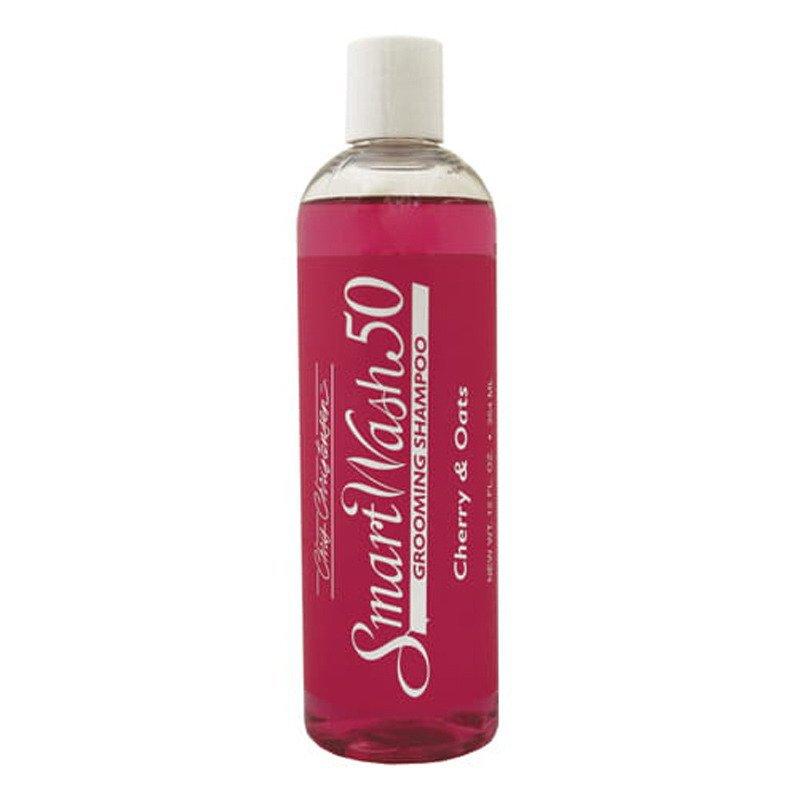 Chris Christensen Smart Wash Cherry Shampoo - skoncentrowany (50:1) szampon, o zapachu wiśniowo-owsianym, do każdego typu szaty, 355 ml