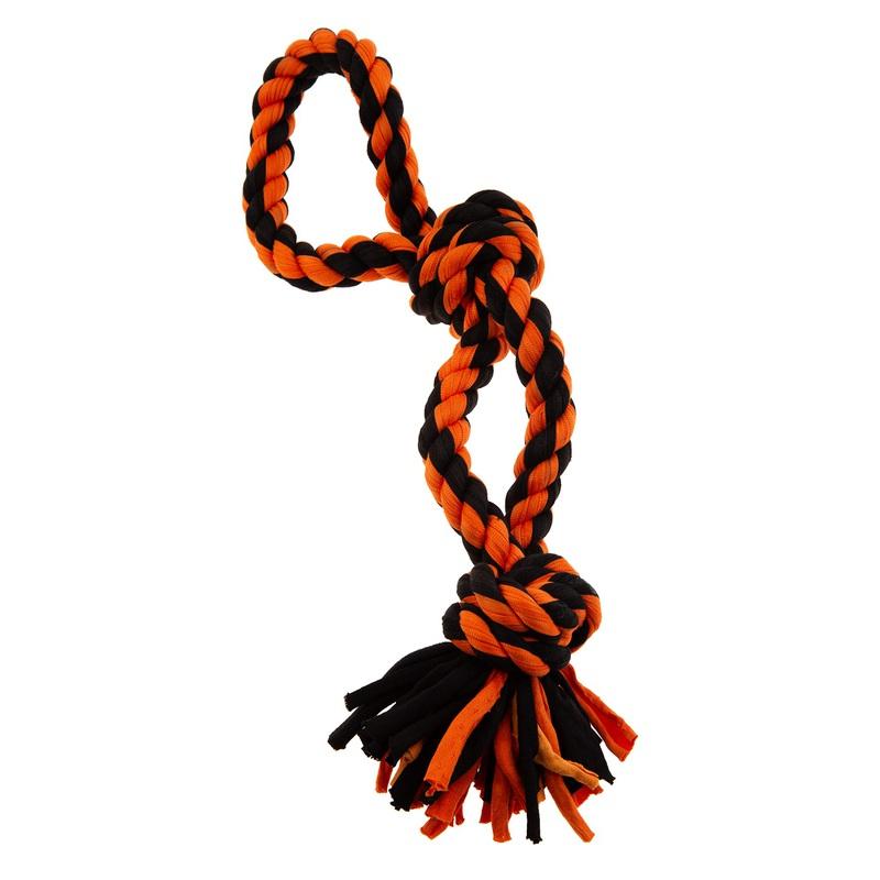 RECOFUN Doozy Tug It - sznur z dwoma supłami, 37 cm
