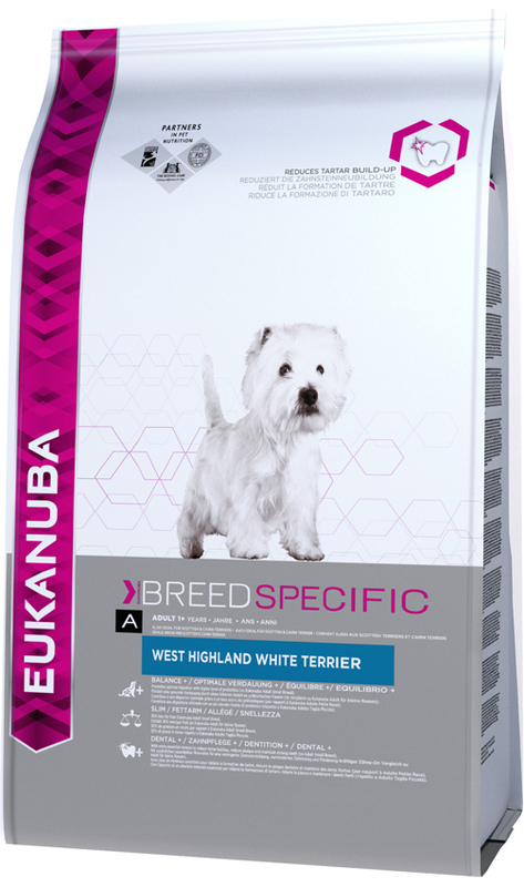 EUKANUBA BREED SPECIFIC WEST HIGHLAND WHITE TERRIER - karma dla psów rasy highland white terrier, 2,5 kg