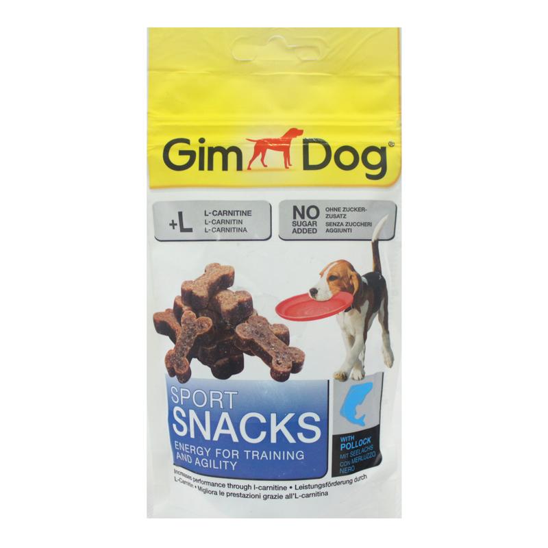 GIMDOG Sport Snack - mini kosteczki z łososiem i L-karnityną, 60g