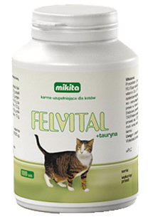 MIKITA-FELVITAL z tauryną - tabletki dla kota, 100 tabletek