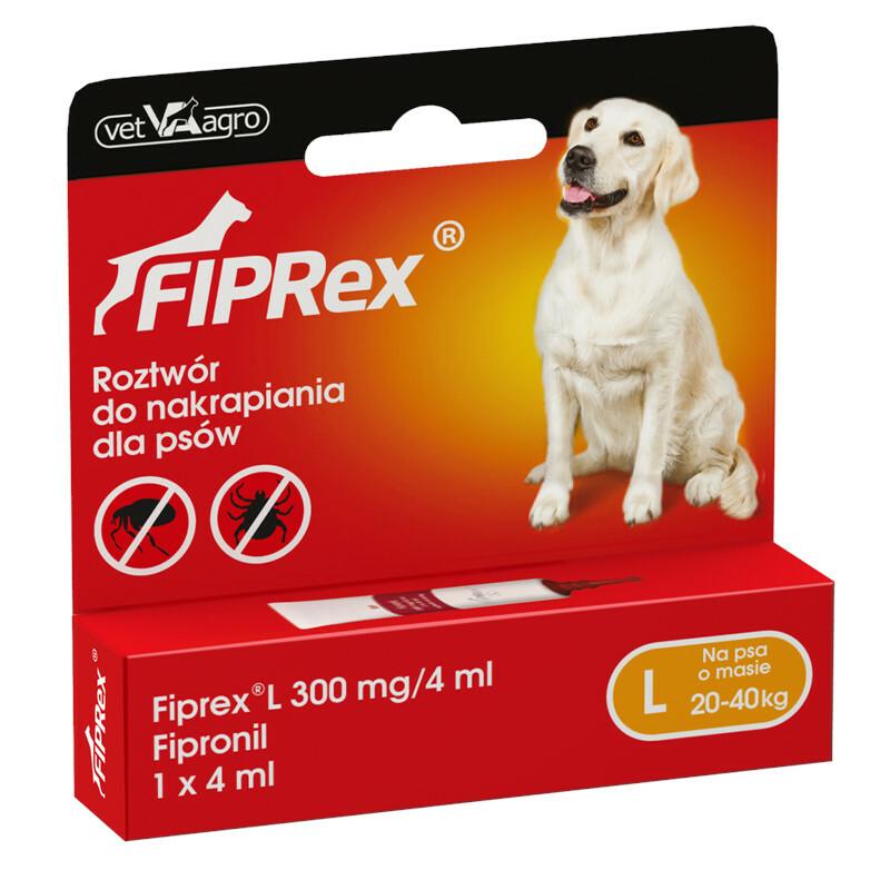 FIPREX - krople przeciwko pchłom i kleszczom dla psów L, jedna tubka 4ml