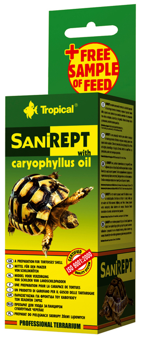 TROPICAL SANIREPT - preparat o pielęgnacji skorupy żółwi lądowych, 15ml