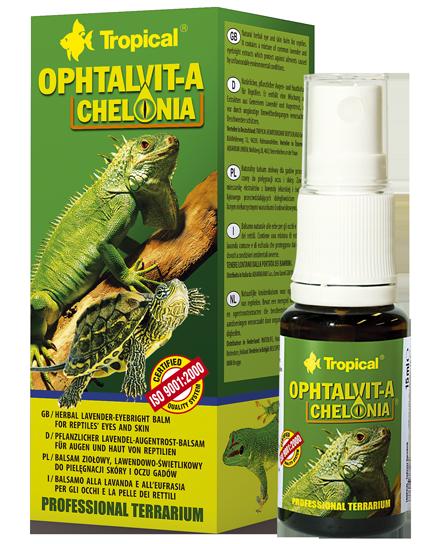 TROPICAL OPHTALVIT-A CHELONIA - balsam ziołowy, lawendowo-świetlikowy, do pielęgnacji skóry i oczu gadów, 15ml