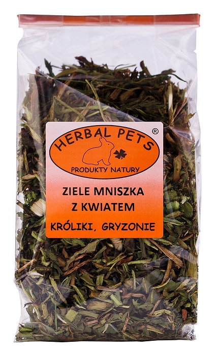 Herbal Pets ziele mniszka z kwiatem - karma uzupełniająca dla królików, szynszyli, świnek morskich, koszatniczek, chomików, myszek 80g