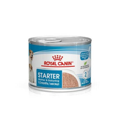 ROYAL CANIN Mini Starter Mousse - mokra karma dla szczeniąt i suk karmiących, 195g