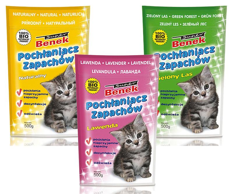 CERTECH Benek Super Pochłaniacz zapachów do kuwety dla kota 450g