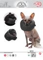 Grande Finale - miękki kołnierz zabezpieczający dla psów i kotów, kolor czarny