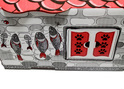 Cat House - Kartonowy domek dla kota, biało/czerwony