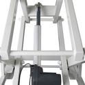 Shernbao - stół z podnośnikiem elektrycznym, blat 125 cm x 65 cm, kolor czarny