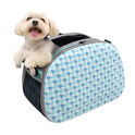IBIYAYA elegancki transporter na ramię Chidori dla małego psa lub kota, kolor niebiesko-miętowy