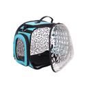 Ibiyaya Honeysuckle przezroczysty transporter dla małych psów lub kota, kolor niebieski