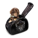 Ibiyaya Leopard przezroczysty transporter dla małego psa lub kota, kolor czarny