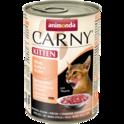ANIMONDA Carny Kitten Wołowina, Kurczak + Cielęcina - smakowita mokra karma dla kociąt, puszka 200 i 400g