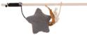 TRIXIE Drewniana wędka z gwiazdką z tkaniny i z dzwoneczkiem