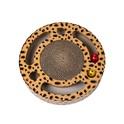 SANDEZIA Scratch & Catch Cheetah tekturowy drapak, zabawka dla kota