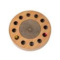 SANDEZIA Scratch & Catch Wood tekturowy drapak, zabawka dla kota