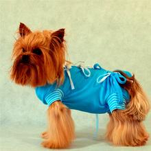 Grande Finale - koszulka pooperacyjna dla psa i kota, niebieska,  7 rozmiarów!