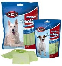 Trixie Denta Fun Kauchips Light - paski wołowe z algami morskimi - przysmak dentystyczny dla psa