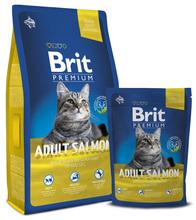 BRIT Premium Cat Adult Salmon- karma dla dorosłych kotów z łososiem 300g, 800g, 1,5 kg, 8 kg