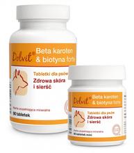 Dolfos BETA Karoten & Biotyna forte - dla prawidłowego rozwoju i formowania okrywy włosowej - 90 tabletek