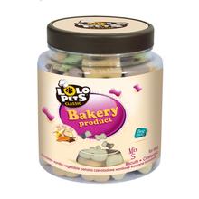 Lolo Pets Biscuits -ciasteczka w kształcie kosteczek dla psów, słoik 210g mix smaków