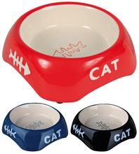 Trixie Cat - miska ceramiczna dla kotów z rysunkiem ryby i napisem CAT