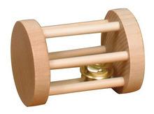 Trixie Playing Roll- drewniana rolka z dzwonkiem, zabawka dla królików i innych gryzoni