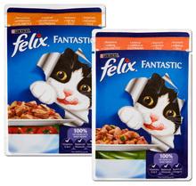 PURINA FELIX FANTASTIC z Warzywami - Pełnoporcjowa karma dla kota, 100 g