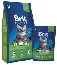 Brit Premium Cat Sterilised - karma dla kotów wysterylizowanych 300g, 800g, 1,5 kg, 8 kg