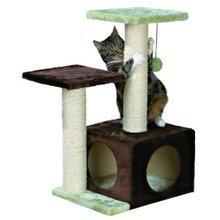 Trixie Valencia- drapak dla kota z budką, kolor brązowo-zielony