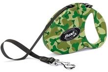 Flexi Fashion Camouflage- smycz automatyczna dla psa, na taśmie