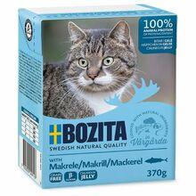 Bozita Makrele- karma dla kota z makrelą w galaretce, karton 370g Zawartość mięsa 93%!