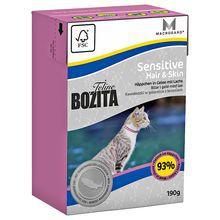 Bozita Feline Sensitive Hair & Skin- karma dla kotów z wrażliwą skórą i sierścią, ze świeżym łososiem 190g