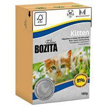 Bozita Feline Kitten - kawałeczki kurczaka w galaretce dla kotek w ciąży oraz kociąt, 190g