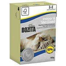 Bozita Feline Cat Indoor & Sterilised-kawałeczki kurczaka w galaretce, kartonik 190g,  dla kotów wysterylizowanych  i mało aktywnych