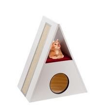 Ferplast Merlin- designerski drapak dla kota, mebel wykonany z litego drewna