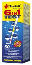 TROPICAL 6 IN 1 TEST - paski testowe do wody akwariowej i w oczkach wodnych