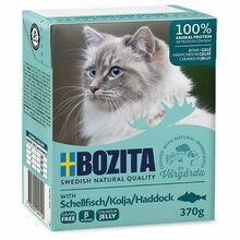 Bozita Schellfisch- karma dla kota z dorszem w galaretce, karton 370g Zawartość mięsa 93 %!