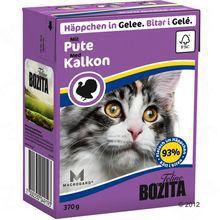 Bozita Pute- karma dla kota z indykiem w galaretce, karton 370g Zawartość mięsa 93 %!