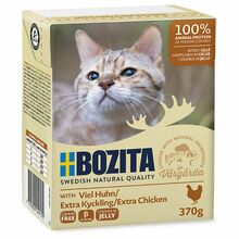Bozita Extra Kyckling- karma dla kota z kurczakiem w galaretce, karton 370g Zawartość mięsa 93 %!