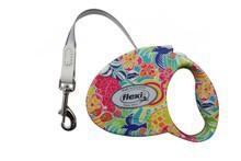 Flexi Fashion Ladies Tropic- smycz automatyczna dla psa, taśma PIĘKNY WZÓR!