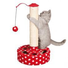 Trixie Lina- drapak dla kota z brzęczącymi piłkami, czerwony w białe groszki
