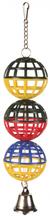 Trixie 3 piłki z dzwonkiem, zabawka dla papużek