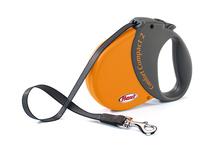 Flexi COMFORT COMPACT 2 Orange- 5 m taśmy, smycz automatyczna dla psa z ergonomicznym uchwytem, kolor pomarańczowy