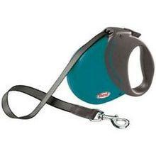 Flexi COMFORT COMPACT 3 Petrol Blue- 5 m taśmy, smycz automatyczna dla psa z ergonomicznym uchwytem, kolor turkusowy