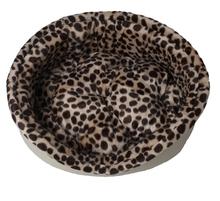 Zoocomfort Lampart- legowisko owalne dla psa lub kota z wyciąganą poduszką, Brązowa eko- skóra!