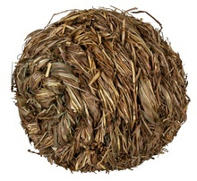 TRIXIE - Piłka z trawy z dzwonkiem - jadalna zabawka dla gryzoni