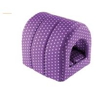 Ferplast budka w kropeczki- legowisko dla psa lub kota, kolor fioletowy